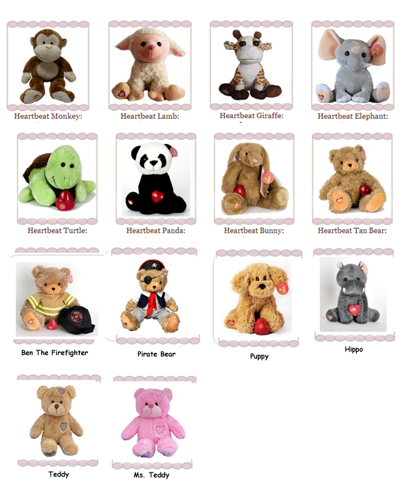 Heartbeat Stuffed Animals