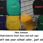 cinch sacs and ball caps-min